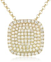 KC Designs Trinkets 14k Yellow Gold and Diamond Pave Pendant Necklace, 18""
