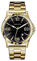 Caravelle Men's Goldtone Stainless Bracelet Sport Watch