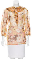Valentino Silk Lace-Up Top