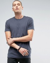 Allsaints Allsaints Longline T-shirt With Step Back Hem