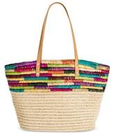 Merona Women's Medium Straw Tote Handbag