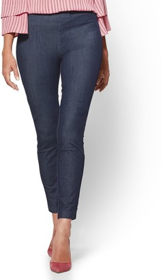 New York & Co. Petite Whitney High-Waisted Pull-On Ankle Pant - Navy
