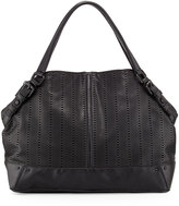 French Connection Rose Laser-Cut Domed Tote Bag, Black