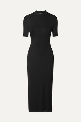 TWENTY Montréal - Mackay Ribbed Stretch-jersey Midi Dress - Black