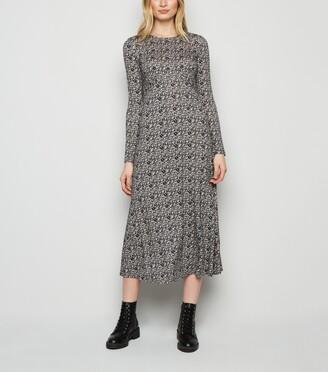 New Look Ditsy Floral Long Sleeve Midi Dress