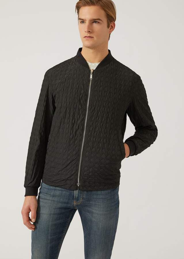 Emporio Armani Quilted Technical Fabric Blouson