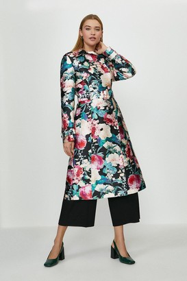 Coast Floral Jacquard Trench Coat