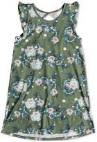 Roxy Cut Out Floral-Print Cotton Dress, Big Girls