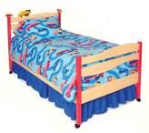 Room Magic Natural Twin Bed, Boys Like Trucks