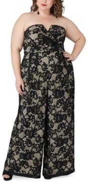 Maree Pour Toi Plus Size Magic Lace Jumpsuit