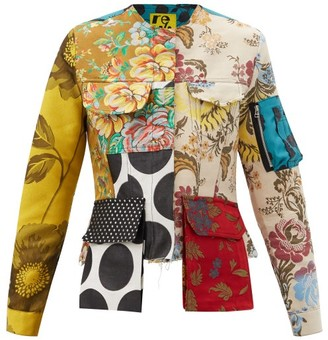 Marques Almeida Patchwork Upcycled Cotton-blend Twill Jacket - Red Multi