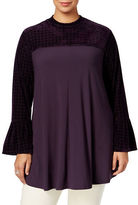 Style And Co. Plus Velvet-Inset Top