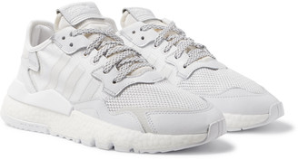 adidas Nite Jogger Suede And Rubber-Trimmed Mesh And Ripstop Sneakers