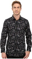 Perry Ellis Slim Fit Multicolor Camo Print Shirt