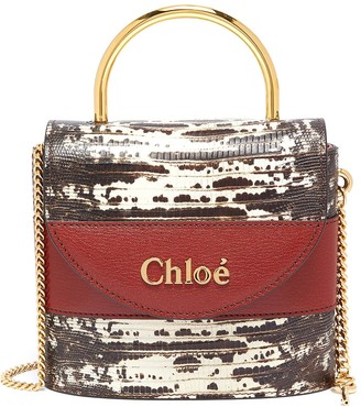 Chloé 'Abylock' lizard embossed leather handle bag