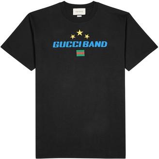 Gucci Black printed cotton T-shirt
