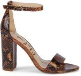 Sam Edelman Yaro Embossed-Snakeskin Leather Ankle-Strap Sandals