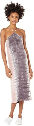 Hurley Dip-Dye Midi Dress (Thunder Grey Dip) Women's Clothing