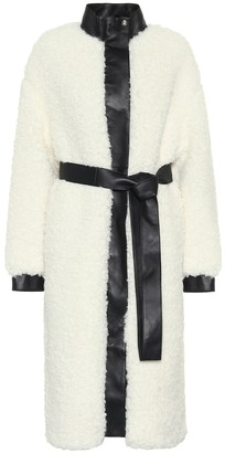 Acne Studios Faux shearling and leather coat