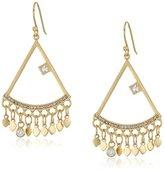 Satya Jewelry Gold/White Topaz Chandelier Earrings