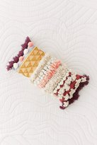 Urban Outfitters Maja Mixed Fringe Woven Bolster Pillow