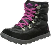 The North Face Thermoball Lace Boot Womens Shiny TNF Black/Luminous Pink 7
