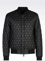 Armani Jeans Bomber In Technical Fabric