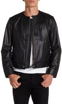 Y-3 Perforated Genuine Leather Jacket