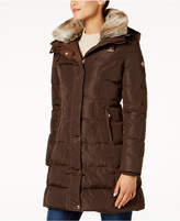 MICHAEL Michael Kors Faux-Fur-Collar Down Puffer Coat