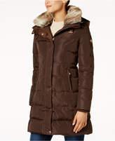MICHAEL Michael Kors Faux-Fur-Collar Down Puffer Coat