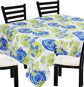 """Indian Decorative Square Tablecloth Anniversary -100% Cotton Floral Table Cloth Square Blue Green -55"""" x 55"""""""