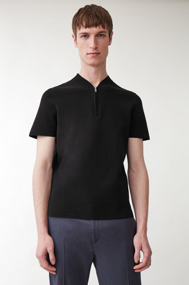 Cos Zipped Knit With Short Sleeves