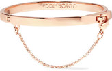 Eddie Borgo Safety Chain Rose Gold-plated Bracelet - one size