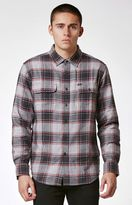 Obey Wilcox Plaid Flannel Long Sleeve Button Up Shirt