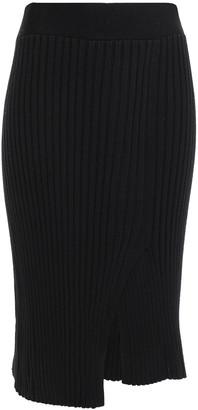ATM Anthony Thomas Melillo Asymmetric Ribbed Merino Wool Skirt