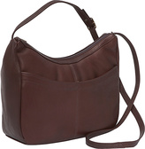 David King & Co. Top Zip Hobo With Front Open pocket