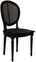 The Well Appointed House French Sherie Caned Chair in Black-Set of Two