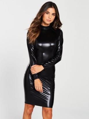 Ann Summers Dominatrix Long Sleeve Dress - Black