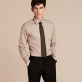 Burberry Slim Fit Stretch Cotton Blend Shirt
