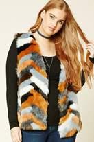 Forever 21 FOREVER 21+ Plus Size Faux Fur Vest