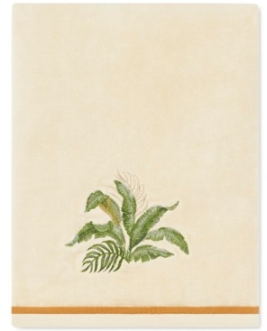 Tommy Bahama Home Tommy Bahama Palmiers Cotton Embroidered Bath Towel Bedding