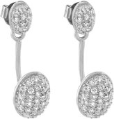 Master Of Bling Drop Down Dangle Earrings 925 Sterling Simulated Diamonds Womens White Finish