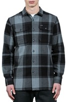 Volcom Men's Heavy Daze Plaid Flannel Shirt Jacket