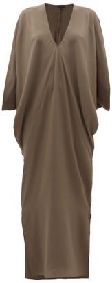 Thea - The Selene Dolman-sleeve Silk Maxi Dress - Womens - Dark Green