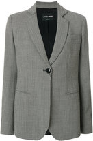 Giorgio Armani patterned blazer - women - Silk/Cotton/Polyester/Virgin Wool - 42