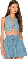 Motel Meso Halter Tank in Blue. - size L (also in M,S)