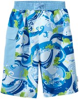 I Play Boys' Tropical Swim Trunks w/Builtin Swim Diaper (6mos-4T) - 8145766
