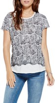 Vince Camuto Lace Graphic Cotton Tee