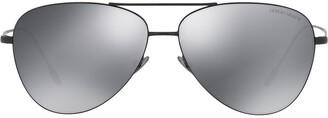 Giorgio Armani Aviator Frame Sunglasses
