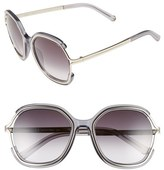 Chloé Women's 'Jayme' 54Mm Square Sunglasses - Dark Grey